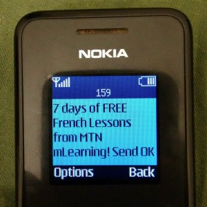 7 days of FREE French Lessons from MTN MLearning! Send OK